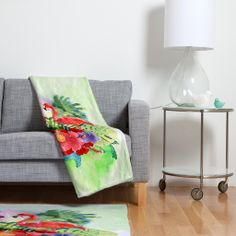 Kangarui Exotic Flamingo Fleece Throw Blanket | DENY Designs Home Accessories #blanket #flamingo #tropical #exotic #homeware
