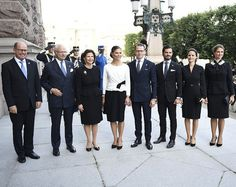 13 September 2016 - Swedish Royal Family attends the opening of the Parliamentary Session