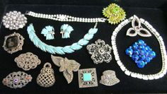 Newest Additions to our Vintage Jewelry Collection at Tons of Treasures in Laguna Niguel ~ Like us on Facebook!  https://www.facebook.com/pages/Tons-of-Treasures/112400565564963