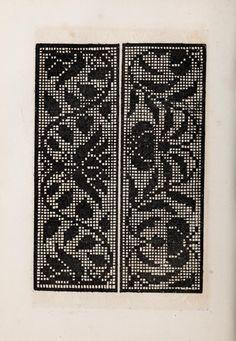 Italian Book with patterns from 16th century embroidery. Patrons de broderie et de lingerie du XVIe siècle