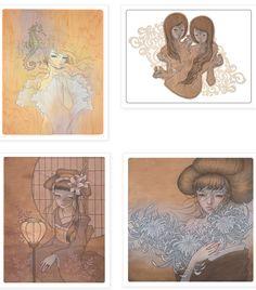 Audrey Kawasaki ilustradora. Sensual melancolía