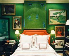 mocne kolory w sypialni