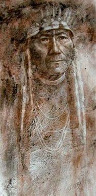 Nez Perce Elder by Michele Zarb kp