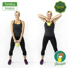 Arm Workout: Blast Arm Jiggle with 5 Best Triceps Exercises Kettlebell Arm Workout, Kettlebell Training, Triceps Workout, Kettlebell Benefits, Kettlebell Challenge, Fat Workout, Tabata, Body Fitness, Fitness Diet