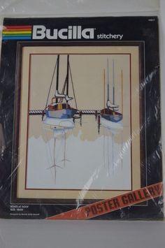"#Bucilla #BoatsatDock #49817 #""PosterGallery"" #Embroidery #Kit  #Bucilla"