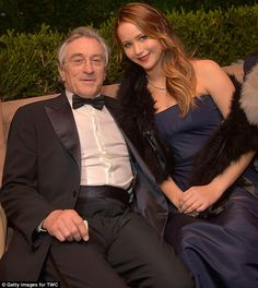 Actor Robert De Niro and actress Jennifer Lawrence attend The Weinstein Company's SAG Awards After Party Presented By FIJI Water at Sunset Tower on January 2013 in West Hollywood, California. Get premium, high resolution news photos at Getty Images Al Pacino, Best Actress Award, Best Actor, Jennifer Lawrence Awards, Ripped Dress, Richard Gere, Sag Awards, Hollywood Actor, West Hollywood