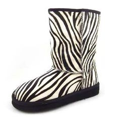 Zebra Print Women Warm Winter Snow Boots Shoes SHZ023