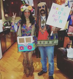 Hippies couples costume