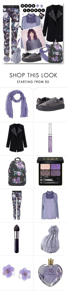 """If I had Dark Floral Leggings..."" by pomy22 ❤ liked on Polyvore featuring Annarita N., Puma, Sisley, Volcom, Gucci, adidas, Blumarine, By Terry, Chanel and Vera Wang"