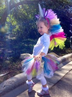 Sparkly Rainbow Unicorn Homemade Costume