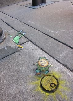 street art von David Zinn Interior Decorating: Proper Way to Light the Home Article Body: One of the David Zinn, 3d Street Art, Street Art Graffiti, Street Artists, Graffiti Artists, Pablo Picasso, Chalk Pictures, New York Graffiti, Pavement Art