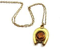 Victorian Pocket Watch Fob Necklace Gold by IfindUseekVintage