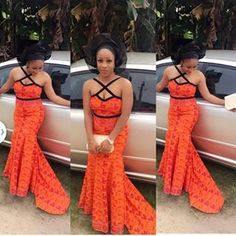 Online Hub For Fashion Beauty And Health: Lovely lace Asoebi Long Gown For Pretty Ladies