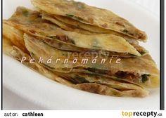 Gözleme (turecké placky) recept - TopRecepty.cz Spanakopita, Street Food, Tacos, Ethnic Recipes, Pizza, Indie, Salt, Eten, Japanese Street Food