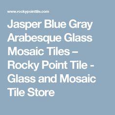 Jasper Blue Gray Arabesque Glass Mosaic Tiles                      – Rocky Point Tile - Glass and Mosaic Tile Store