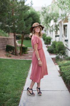 THE CLARA DRESS- DUSTY ROSE