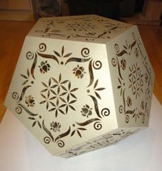 Laser cut dodecahedron