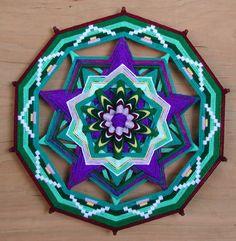 Heart of the Pentagram , a 18 inch, 10 sided, Ojo de Dios by Jay Mohler