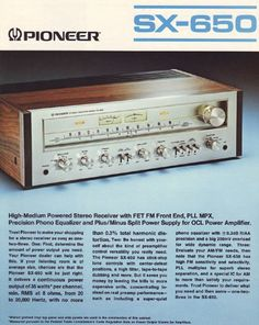 Pioneer SX-650   Classic Receivers
