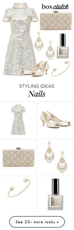 """""""Sequin Minimalist: Featured item Box Clutch"""" by im-karla-with-a-k on Polyvore featuring Naeem Khan, John Lewis, Miss Selfridge, Sequin, women's clothing, women's fashion, women, female, woman and misses"""
