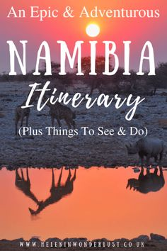 An epic and adventurous itinerary in Namibia! The main attractions include: Etosha National Park, Sossusvlei, Swakopmund and the Fish River … Africa Destinations, Amazing Destinations, Holiday Destinations, Travel Destinations, Solo Travel, Travel Tips, Travel Ideas, Hawaii Travel, Budget Travel