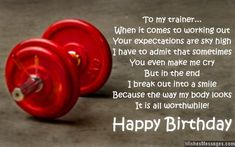 Birthday Wishes For Trainers Messages Personal
