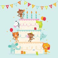 Gareth williams - cake & animals b' Happy Birthday Images, Happy Birthday Cards, Birthday Greetings, Birthday Wishes, Gareth Williams, Micro Creche, Happy Bird Day, Birthday Board, Funny Cards