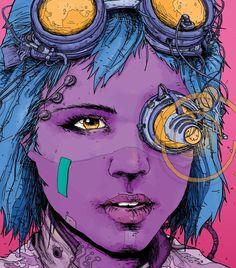 Lex-a26 Cyberpunk Girl, Cyberpunk Character, Cyberpunk Fashion, Astral Plane, Character Design References, Character Art, Comic Styles, Hyperrealism, Sketchbook Inspiration