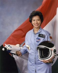 Pratiwi Pujilestari Sudarmono (born July 31, 1952 in Bandung) is an Indonesian scientist. She is currently professor of microbiology at the University of Indonesia, Jakarta.In October 1985, she was selected to take part in the NASA Space Shuttle mission STS-61-H as a Payload Specialist.