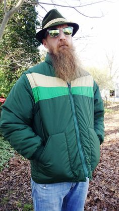3cb4d9fab3 Mens 70s Ski Jacket - 70s Coat - 70s Jacket - Vintage Jacket - Vintage Ski  Jacket in Green by Lee-Wald Outerwear Size M-L