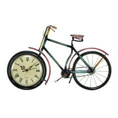Uma Metal Bicycle Wall Clock