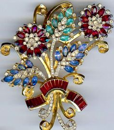 Coro Craft Bouquet Brooch