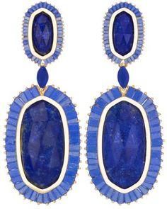 blue, earring