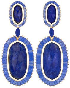 Kendra Scott Baguette Hourglass Earrings in Lapis - GORGEOUS