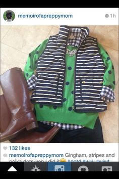 J. Crew stripes, polka dots, and gingham. Yes! Have them all. Will be wearing ASAP.