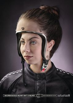 These Brilliant Ads Remind You That Wearing An Unbuckled Helmet Is As Bad As…