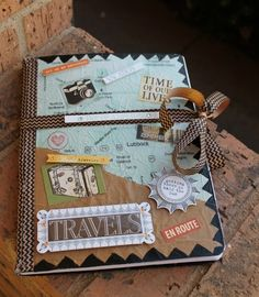 travel journal scrapbook - DIY Travel Journal Smash Book Gift Idea for a Graduate Best Friend Gifts, Gifts For Friends, Scrapbooking 3d, Planner Free, Travel Outfit Spring, Ladybug And Cat Noir, Up Book, Travel Scrapbook, Journal Covers