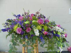 Image result for Half Casket Flowers