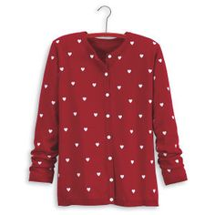 Embroidered Heart Cardigan $54.95
