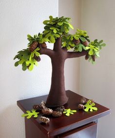 Handmade Felt Trees To Substitute Real Plants | Shelterness