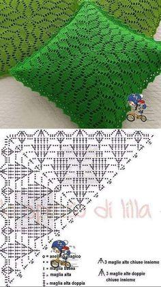 Crochet Diagram, Crochet Chart, Filet Crochet, Crochet Motif, Crochet Designs, Crochet Doilies, Crochet Stitches, Crochet Cushion Cover, Crochet Cushions