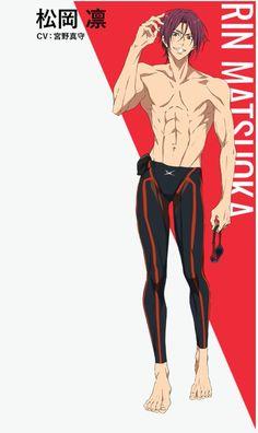 -Dive to the Future- Rin Matsuoka (CV:Mamoru Miyano) Me Anime, Hot Anime Boy, Cute Anime Guys, Anime Male, Anime Boys, Rin Matsuoka, Makoto Tachibana, Makoharu, Future Wallpaper