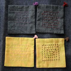 The Beauty of Japanese Embroidery - Embroidery Patterns Sashiko Embroidery, Japanese Embroidery, Embroidery Thread, Embroidery Applique, Embroidery Patterns, Boro Stitching, Fabric Coasters, Kantha Quilt, Recycled Fabric