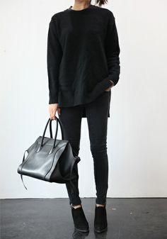 Le parfait total look noir #17