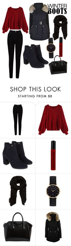 """""""Winter boots"""" by ilyviscardi ❤ liked on Polyvore featuring EAST, Monsoon, NYX, MANGO, Abbott Lyon, Givenchy and K100 Karrimor"""