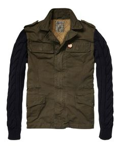 Military Jacket With Knitted Sleeves > Mens Clothing > Blazers at Scotch & Soda