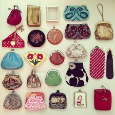 These purses show the order of composition and disorder as the purses are all different colours.