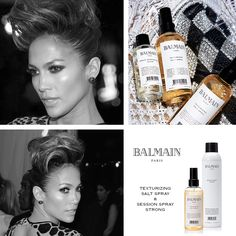 Jennifer Lopez made a good statement of the dresscode punk at the Met Ball. She appeared on the red carpet with a faux mohawk.  Easily recreated with the Session Spray Strong and Texturizing Salt Spray of the Balmain Paris Styling Line.