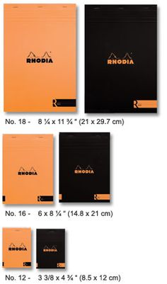 Rhodia notepads. Really: perfect!