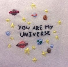 aesthetic quotes images, image search, & inspiration to browse every day. All The Bright Places, Girl Meets World, Steven Universe, Hand Embroidery, Embroidery Ideas, Artsy, Textiles, Couture, Love